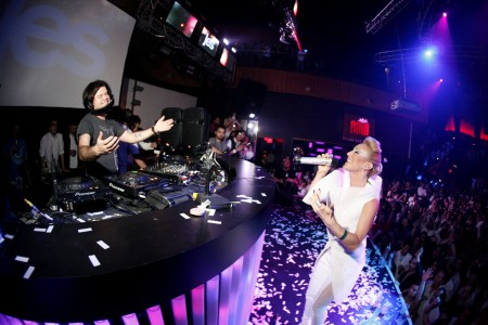 Paul Oakenfold and Jes at Rain for Perfecto (photo by MikeyMcNulty.com)